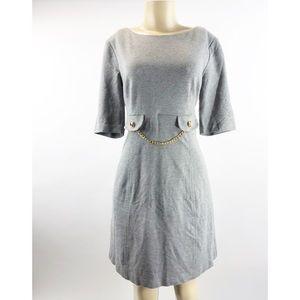 Trina Turk Grey Jersey Knit Dress Size 10